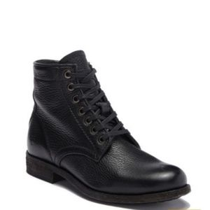 Frye Tyler Lace Up Black Casual Boots